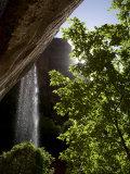Waterfall, Zion National Park, Utah. Monument Valley, USA Photographic Print by John Burcham