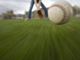 Person Catching a Baseball Photographic Print by John Burcham
