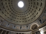 Light Shines Down from the Oculus in the Dome of the Pantheon Photographic Print by Scott Warren
