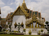 Gardens and Temple at the Grand Palace, Bangkok Photographic Print by Rebecca Hale