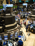 High Angle View of the New York Stock Exchange's Trading Floor Photographic Print by Eightfish