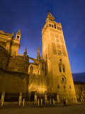 Giralda Tower and Cathedral as Seen from Plaza Del Triunfo Photographic Print by Scott Warren
