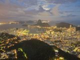 View of Rio De Janeiro at Night from a Nearby Mountain Top Photographic Print by Mike Theiss
