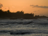Sunset on the North Shore of Oahu Island in Hawaii Photographic Print by Charles Kogod