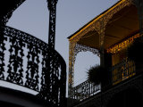 Architecture of Overhead Balconies in the French Quarter Photographic Print by Tyrone Turner