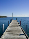 Small Jetty in a Sheltered and Secluded Bay on a Summers Morning Photographic Print by Jason Edwards
