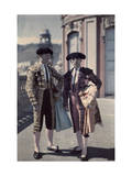 Two Men, Outfitted in Bull Ring Attire, Pose for This National Event Photographic Print by Wilhelm Tobien