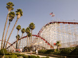 Roller Coaster at Santa Cruz Beach Boardwalk, California Photographic Print by Richard Nowitz
