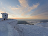 Everything on Summit of Mt. Washington Covered in Rime Ice at Sunset Photographic Print by Mike Theiss