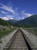 Railroad Track on Turnagain Arm Photographic Print by Rich Reid