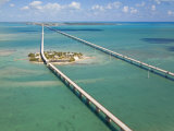 Seven Mile Bridge Crossing Pigeon Key and Connecting the Florida Keys Photographic Print by Mike Theiss