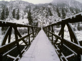 Pack Bridge Crosses the Salmon River, the Gateway to Wilderness Photographic Print by Michael S. Quinton