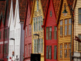 Colorful Row Houses in Bergen Photographic Print by Jim Richardson