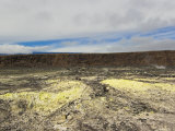Bright Yellow Sulfer Covers the Ground Inside the Kilauea's Crater Photographic Print by Mike Theiss
