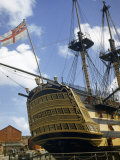 Low Angle View of the Stern of HMS Victory Photographic Print by B. Anthony Stewart