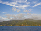 Lush, Tropical, Mountainous Island of Dominica Seen from Offshore Photographic Print by Mike Theiss