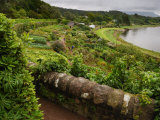 View of Terraced Gardens Overlooking a Scenic Lake Photographic Print by Jim Richardson