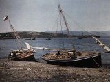 Two Sailboats Rest on the Shore in Chile Photographic Print by Jacob Gayer