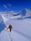 Alex Lowe on Mount Bearskin (2850 M.) in the Ellsworth Mountains Photographic Print by Gordon Wiltsie