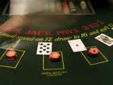 Blackjack Casino Game Photographic Print by Pete Ryan