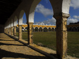 Atrium and Arches at the San Antonio De Padua Convent Photographic Print by Raul Touzon