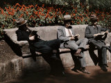 Students Sit and Read their Textbooks in Santa Lucia Park Photographic Print by Jacob Gayer