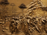 Sculpted Bronze Doors on the Baptistry Next to the Cathedral of Siena Photographic Print by Randy Olson