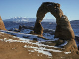 Delicate Arch in Arches National Park, Utah in Winter Photographic Print by Scott Warren