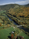 Autumn Foliage Colors Hills Along the Delaware River's West Branch Photographic Print by Robert Sisson