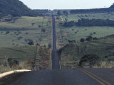 Road in the Cerrado, a Vast Grassland in the Central Highlands Photographic Print by Scott Warren