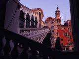 Side View of Rialto, a Venetian Bridge Photographic Print by Gianluca Colla