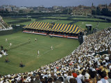 Spectators Crowd Grandstands During 1950 Davis Cup Tennis Competition Photographic Print by B. Anthony Stewart
