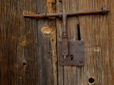 Rusty Barn Door Lock on an Old Hacienda Photographic Print by Medford Taylor