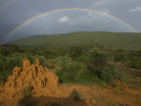 Rainbow over Samburu National Reserve Photographic Print by Michael Nichols