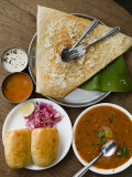 Cheese Masala Dosa with Pav Bhaji Photographic Print by Abraham Nowitz