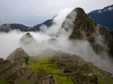 Cloud Shrouded Machu Picchu Photographic Print by Michael Melford