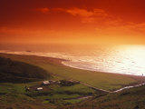 Enhanced Sunset on an Irish Coast Photographic Print by Nick Norman