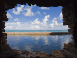 Water and Clouds Seen Through a Hole in a Brick Wall at Fort Jefferson Photographic Print by Mike Theiss