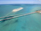 Famous Seven Mile Bridge and Turquoise Waters in the Florida Keys Photographic Print by Mike Theiss
