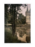 16th Century Chateau Azay-Le-Rideau Sits Beside the Indre River Lámina fotográfica por Courtellemont, Gervais