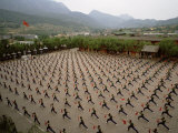 Students Practice Kung Fu at the Ta Gou Academy in Shaolin, China Photographic Print by  xPacifica