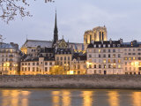 Ile De La Cite, and it's Reflection in the Seine River Photographic Print by Richard Nowitz