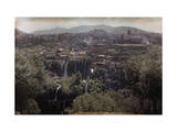 View of Tivoli's Waterfalls During Holiday Photographic Print by Hans Hildenbrand