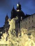 Bernini's Fontana Del Moro, C.1650, on the Piazza Navona Photographic Print by Richard Nowitz