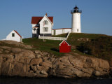 Scenic View of Nubble Light, on the Rocky Coast of Cape Neddick Photographic Print by Darlyne A. Murawski