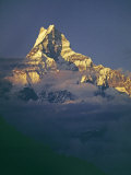 Sunset on the 6997 M. Machhapuchare Peak in the Annapurna Massif Photographic Print by Gordon Wiltsie