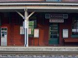 Train Stop in Manassas, Virginia Photographic Print by Hannele Lahti