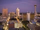 San Antonio, Texas, Skyline of the City at Twilight Photographic Print by Richard Nowitz