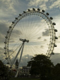 London Eye with Big Ben in the Background at Dusk Photographic Print by Abraham Nowitz
