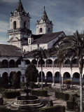 View of the Monastery of San Francisco in Quito Photographic Print by Jacob Gayer